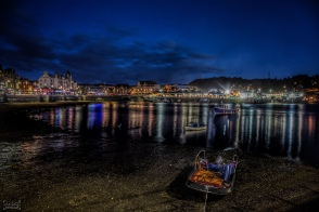 Oban after dark, September 2018